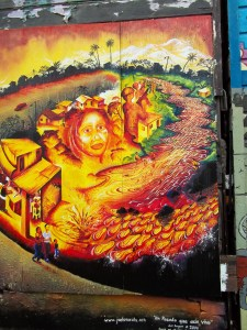 "Photograph of Joel Bergner's ""Un Pasado que aun Vive"" mural in Mission District, SF http://joelartista.com/about/"